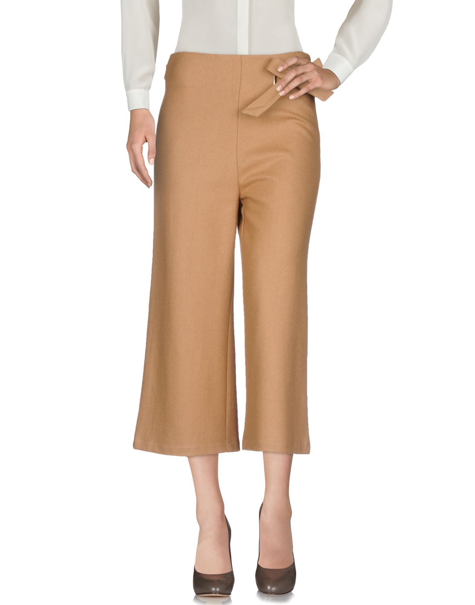 TPN Cropped Pants & Culottes in Camel
