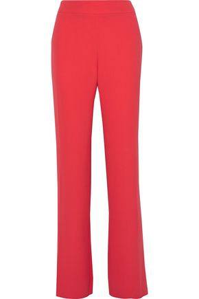 GIORGIO ARMANI Washed-silk flared pants