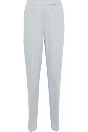 GIORGIO ARMANI Wool-blend voile tapered pants