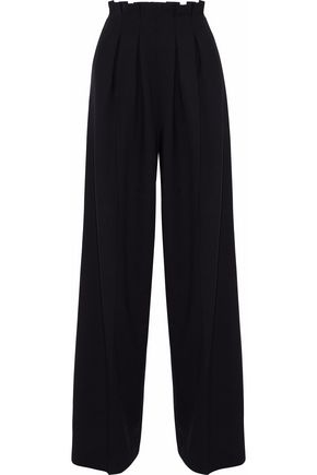 STELLA JEAN Pleated wool-blend wide-leg pants