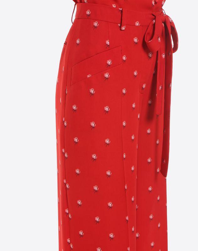 Rosebud print trousers