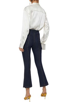 CINQ À SEPT Tinsley high-rise kick-flare jeans