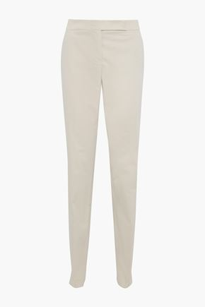 GIORGIO ARMANI Cotton-blend tapered pants