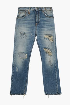 R13 Bowie distressed boyfriend jeans