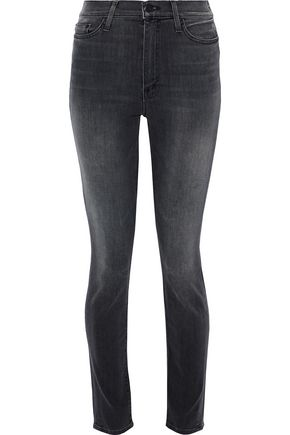 WOMAN SWOONER FADED MID-RISE SKINNY JEANS DARK GRAY
