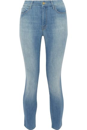 MOTHER Looker cropped high-rise skinny jeans