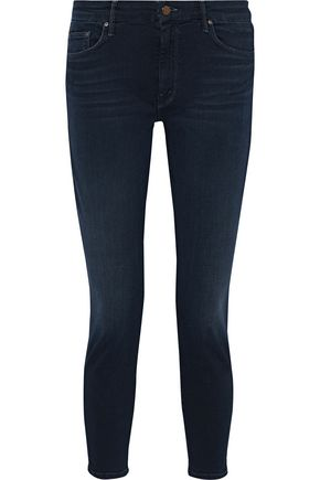 MOTHER Looker Crop mid-rise skinny jeans