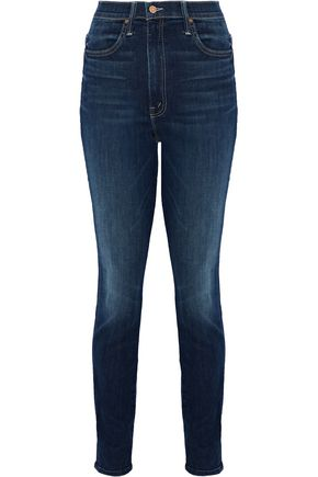 WOMAN SUPER SWOONER HIGH-RISE SKINNY JEANS DARK DENIM