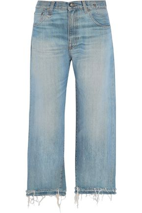 R13 Mason distressed wide-leg jeans