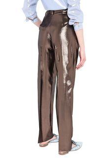 ALBERTA FERRETTI Bronze lamé trousers LAMÉ PANTS Woman d