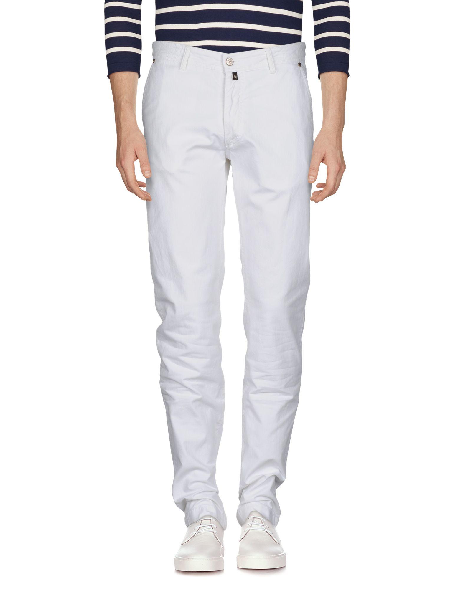 MARCO PESCAROLO Denim Pants in White