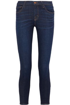 J BRAND Capri cropped mid-rise skinny jeans