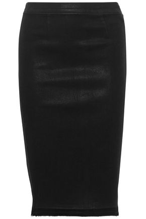 J BRAND Fearless coated denim pencil skirt