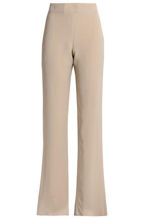 GIORGIO ARMANI Silk-crepe flared pants