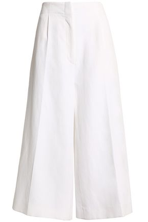 JOSEPH Mika ramie and cottton-blend culottes