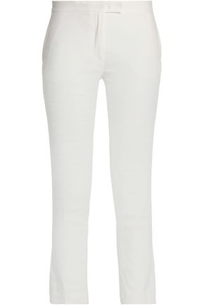 JOSEPH Finley cropped linen-blend tapered pants