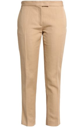 JOSEPH Finley cropped ramie and cotton-blend twill slim-leg pants