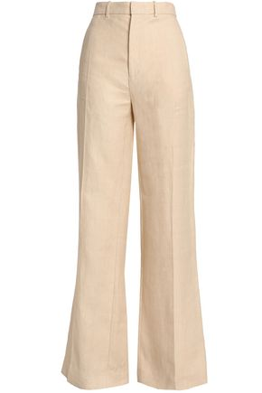 JOSEPH High-rise linen-twill wide-leg pants