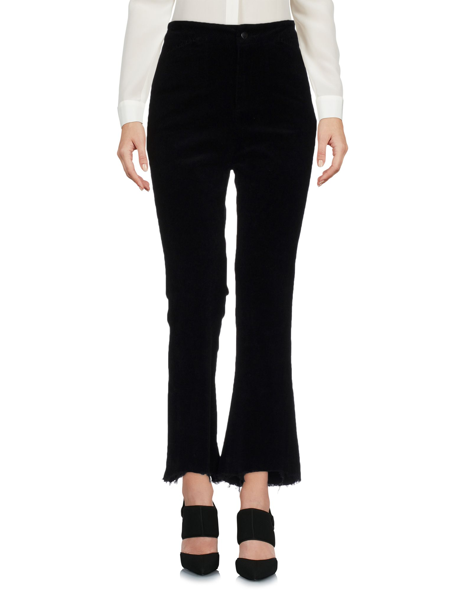 TPN Cropped Pants & Culottes in Black