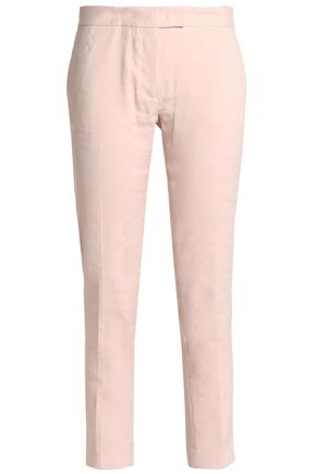 JOSEPH Linen-blend tapered pants