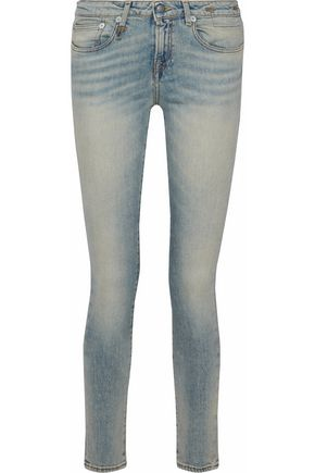 R13 Alison distressed mid-rise skinny jeans