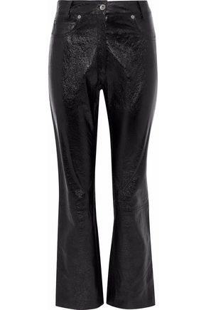 MAGDA BUTRYM Rockville glossed textured-leather straight-leg pants