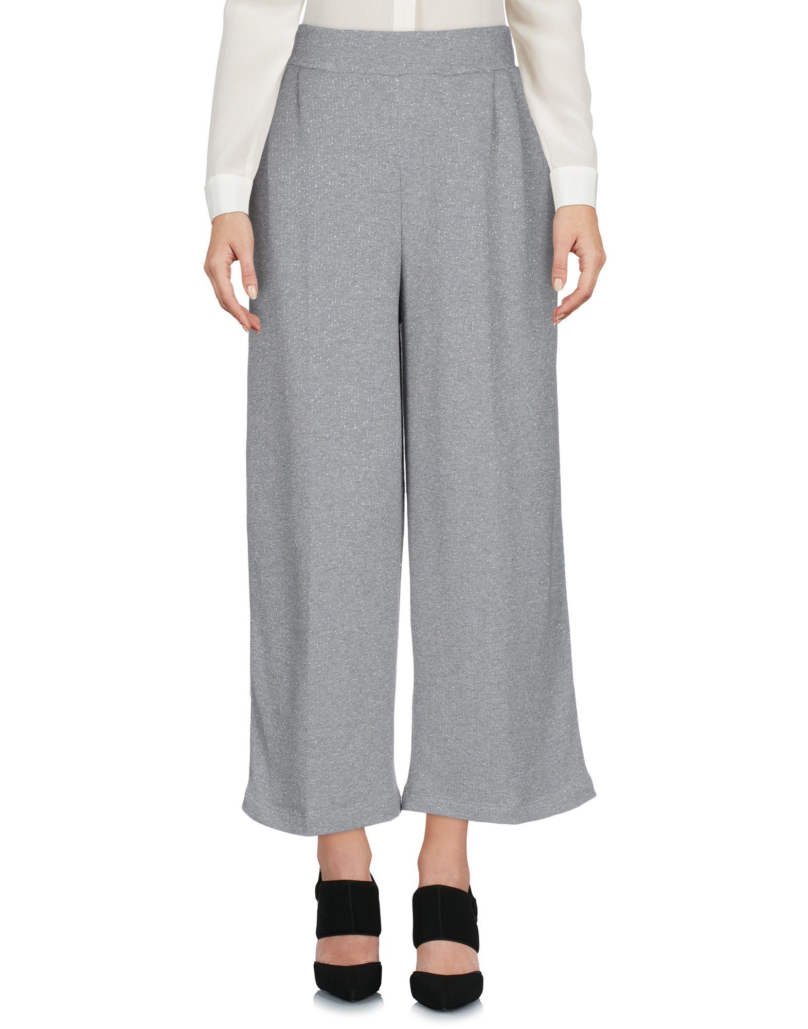 JIJIL Cropped Pants & Culottes in Grey