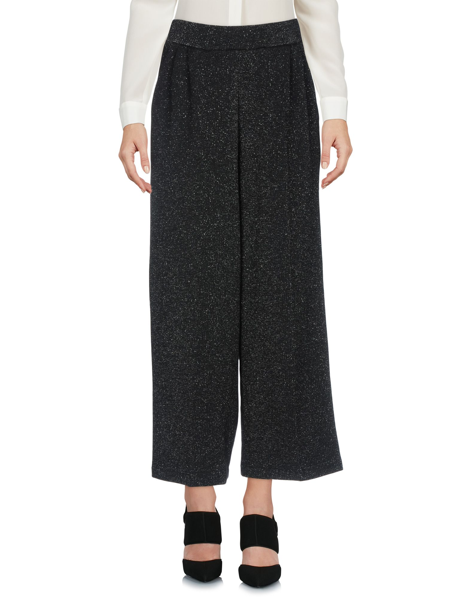 JIJIL Cropped Pants & Culottes in Black