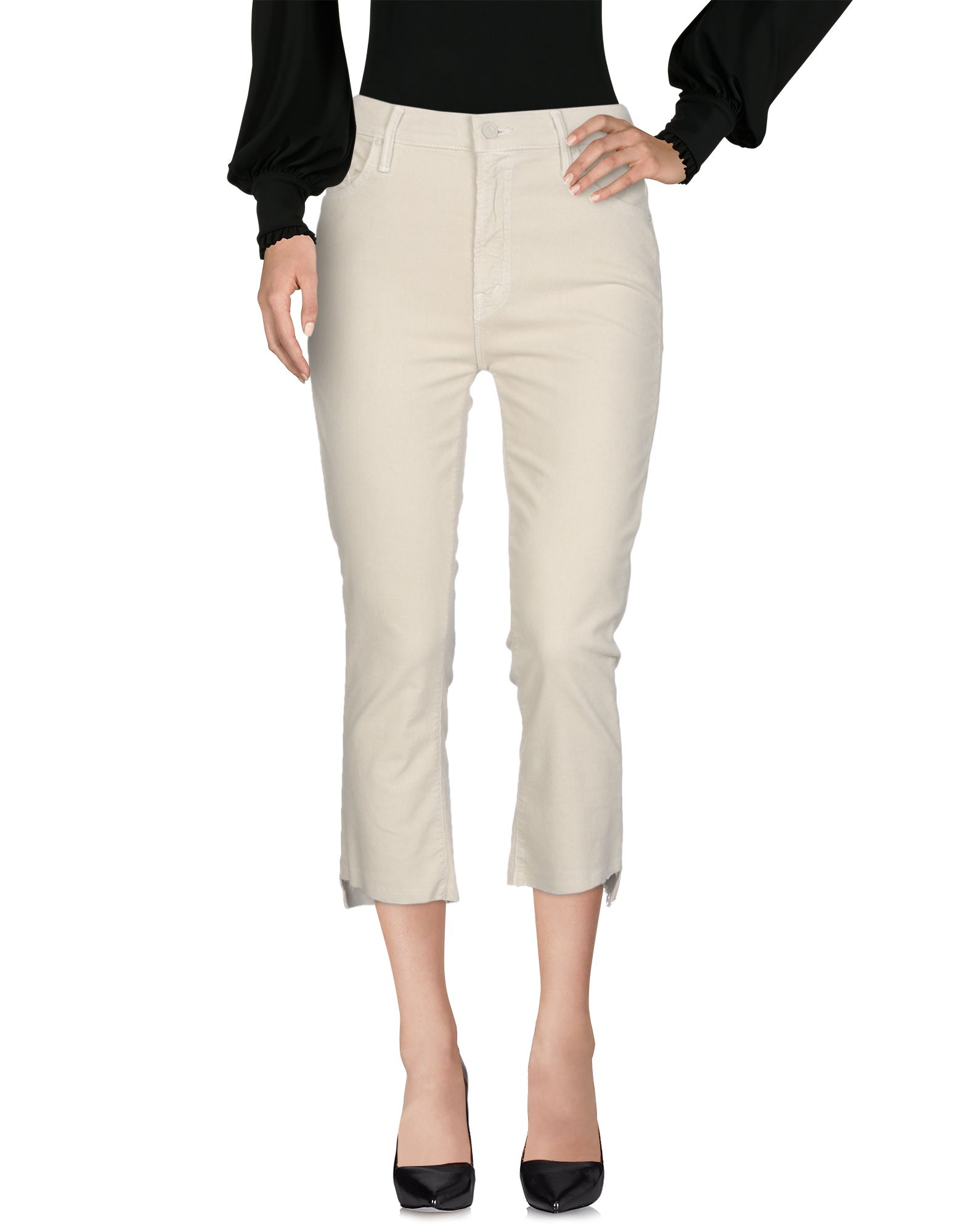 MOTHER Повседневные брюки black choker sleeveless crop top