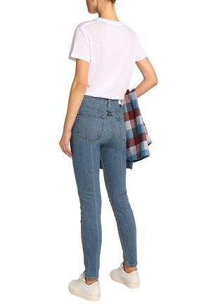 RE/DONE Distressed high-rise skinny jeans