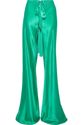 ROBERTO CAVALLI Silk-satin wide-leg pants