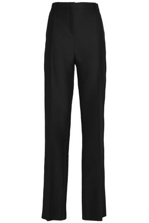 VALENTINO Wool and silk-blend canvas straight-leg pants