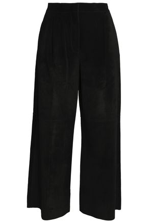 VALENTINO Suede wide-leg pants