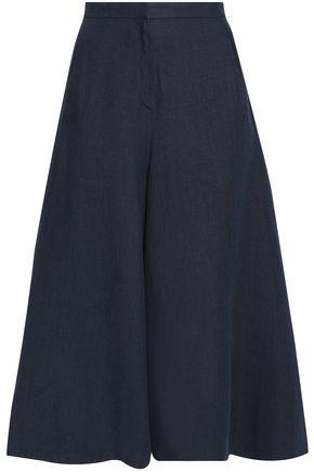 VALENTINO High-rise linen culottes