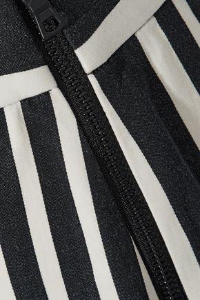 ALICE + OLIVIA Johanna striped stretch-cotton wide-leg pants