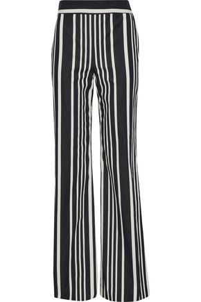 ALICE + OLIVIA Johanna striped stretch-cotton wide-leg pants
