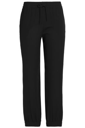 VALENTINO Silk-crepe straight-leg pants