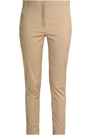 VALENTINO Stretch cotton-poplin skinny pants