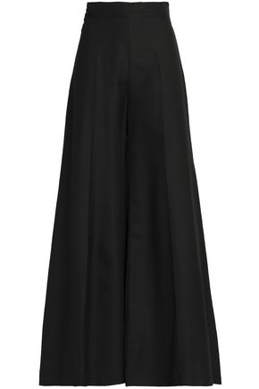 VALENTINO Silk-ponte wide-leg pants