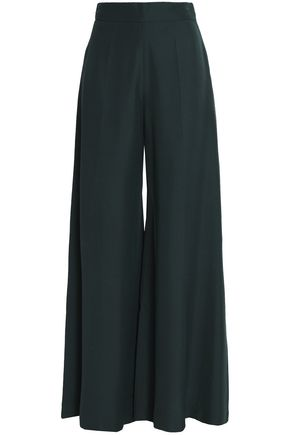 VALENTINO Silk-ponte wide-leg pants