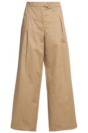 VALENTINO Cotton-twill wide-leg pants