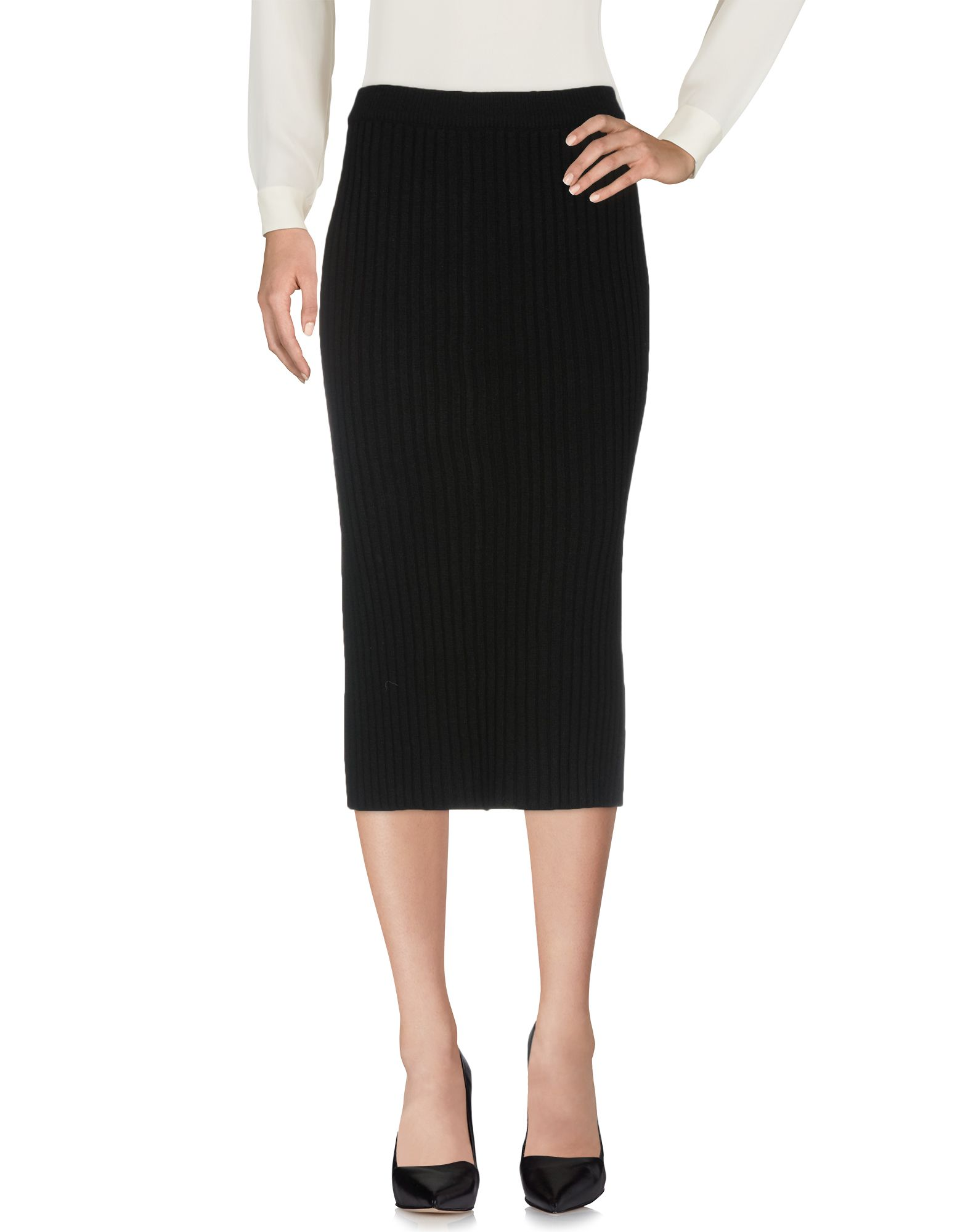 ALYKI Midi Skirts in Black