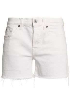 7 FOR ALL MANKIND Frayed denim shorts