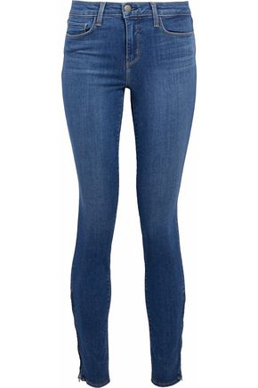 L'AGENCE Faded mid-rise skinny jeans