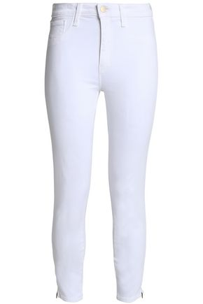 L'AGENCE Cropped high-rise skinny jeans