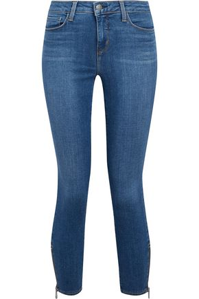 L'AGENCE Cropped mid-rise skinny jeans