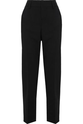 ALICE + OLIVIA Cropped wool-blend woven tapered pants