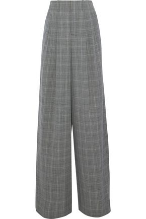 ALICE + OLIVIA by STACEY BENDET Eloise pleated houndstooth wool-blend wide-leg pants