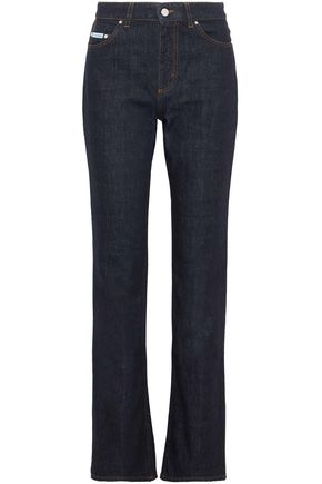 ALEXACHUNG Tokyo faded mid-rise bootcut jeans
