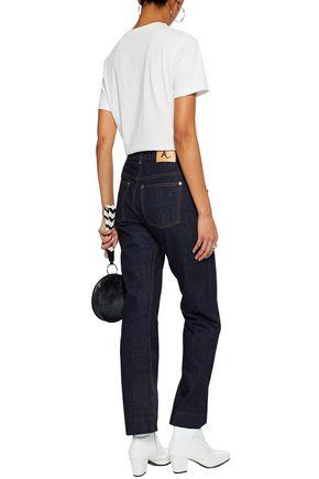 ALEXACHUNG High-rise kick-flare jeans